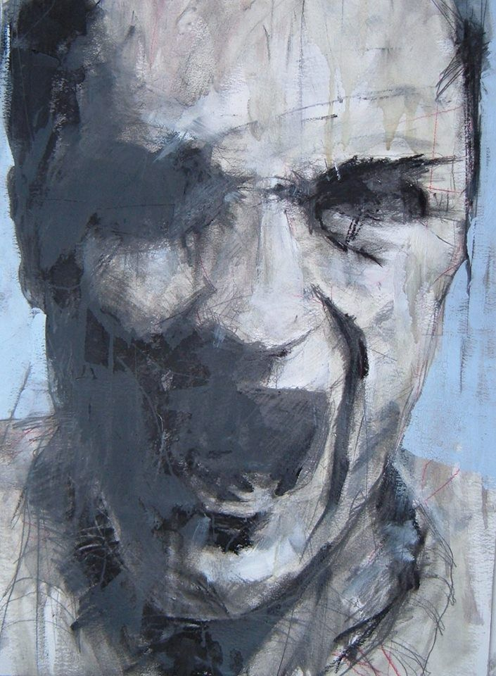 "anitaleocadia:  Guy Denning - ""Screaming Head"""