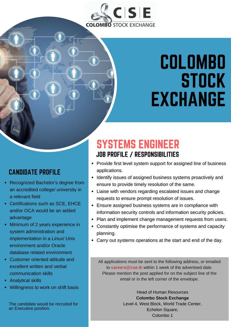 Pin by JKCS on #jobs Pinterest - systems engineer job description