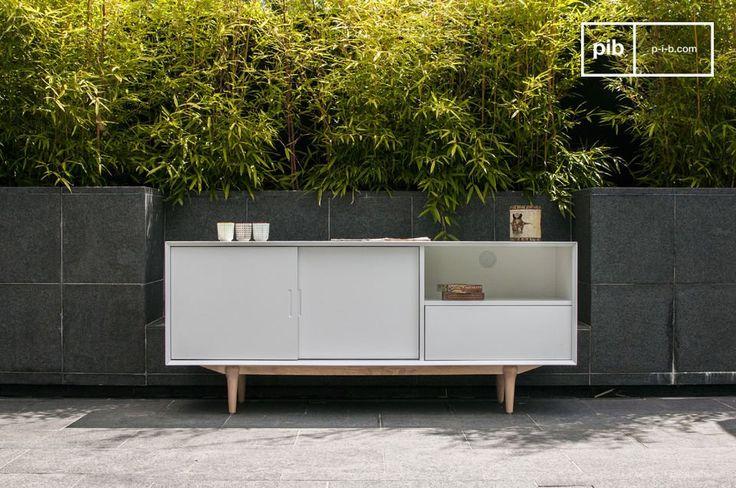 Scegli un tavolo da buffet che combini la convenienza di un design moderno e l'eleganza di una linea luminosa tipica dei mobili Scandinavi anni 50.