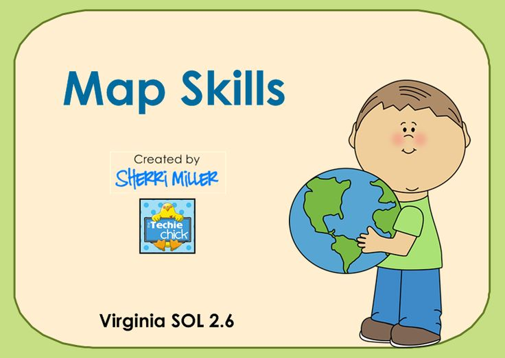 Map Skills: Neighborhood Maps SMARTboard lesson - This introduction to map skills includes information and activities to learn about the map title, map key or legend and the compass rose. Then use the compass rose and may key to create a neighborhood map.