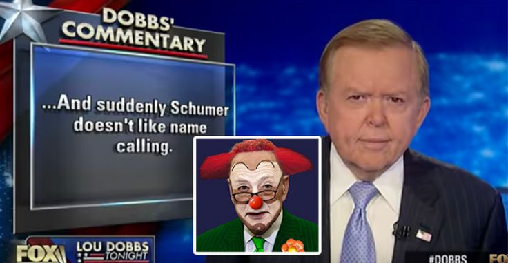 """VIDEO : Lou Dobbs """"Sorry Chuck, Too Late for you, You're Down as the Head Clown"""" – TruthFeed 1/7/17"""