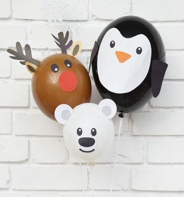 Balloon reindeer,polar bear & penguin - Christmas party decor // Lufi rénszarvas, jegesmedve és pingvin - karácsonyi buli dekoráció // Mindy - craft tutorial collection // #crafts #DIY #craftTutorial #tutorial