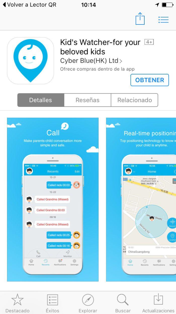 MiSafes Kid´s Watcher Plus – Reloj GPS para niños: Reloj con GPS y llamadas para niños con un buen diseño y fabricación y alguna función interesante como el botón de SOS, el podómetro o a la …