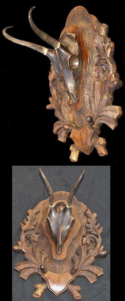Vyrezávané Chamois Lebka montáž 2
