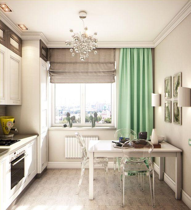 Сталинский дом, высокие потолки, красивый вид из окна – дизайнер взяла за основу главные достоинства квартиры и превратила кухню в стильное современное пространство, в котором уютно хозяевам и гостям