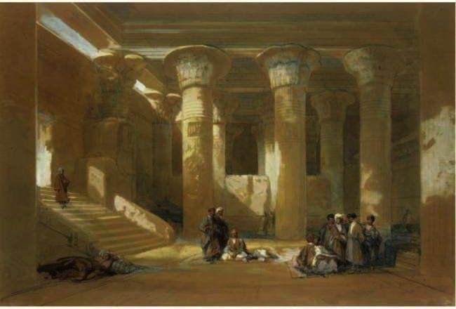 """El gran pórtico del templo de Esneh, Egipto"""", dibujo de <b>David</b> <b>...</b> es.wahooart.com650 × 440Buscar por imagen El gran pórtico del templo de Esneh, Egipto"""", dibujo de <b>David</b> <b>...</b> David Roberts (1796-1864) PINTOR - Buscar con Google"""