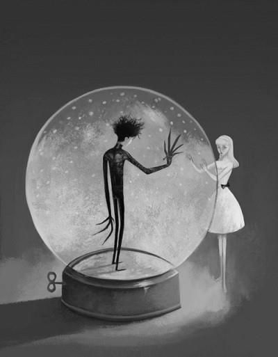 edward scissorhands art -