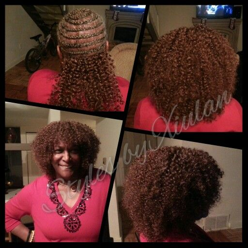 Crochet Braids Hairstyles With Bangs : Crochet Braids with Bangs, Freetress Watetwave Hair Styles by Xiulan ...