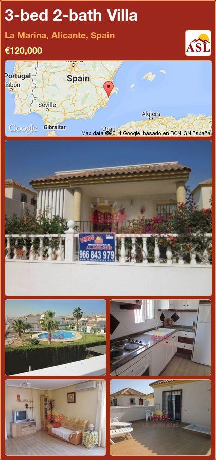 3-bed 2-bath Villa in La Marina, Alicante, Spain ►€120,000 #PropertyForSaleInSpain