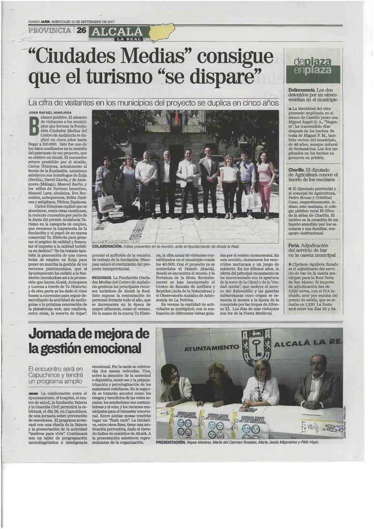 Los periódicos Jaén e Ideal de #Jaén se hacen eco de la reunión celebrada ayer por el Patronato de la #FundaciónCiudadesMediasdelCentrodeAndalucía en #AlcalálaReal