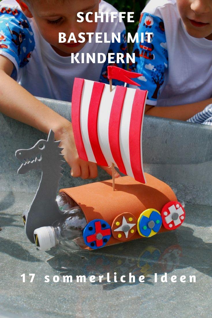 Schiffe basteln mit Kindern ist eine tolle Bastelidee rund ums Wasser. Einfache Projekte für Schiffe, Segelboote und Flöße aus verschiedenen Materialien, lassen sich mühelos verwirklichen.