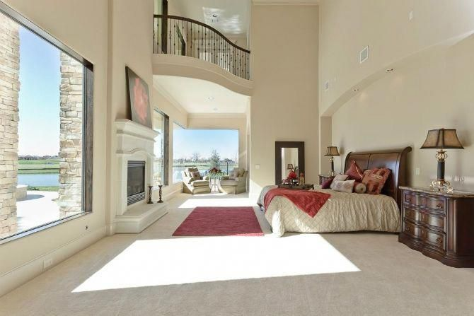 Huge Master Bedroom Decor With Amazing Windows And And Incredible