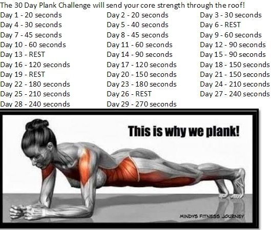 30 day plank challenge - Completed March 2015