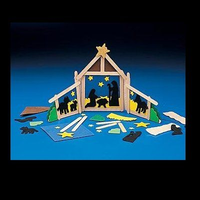 Felt And Popsicle Stick Nativity Christmas MangerChristmas Crafts For KidsChristmas
