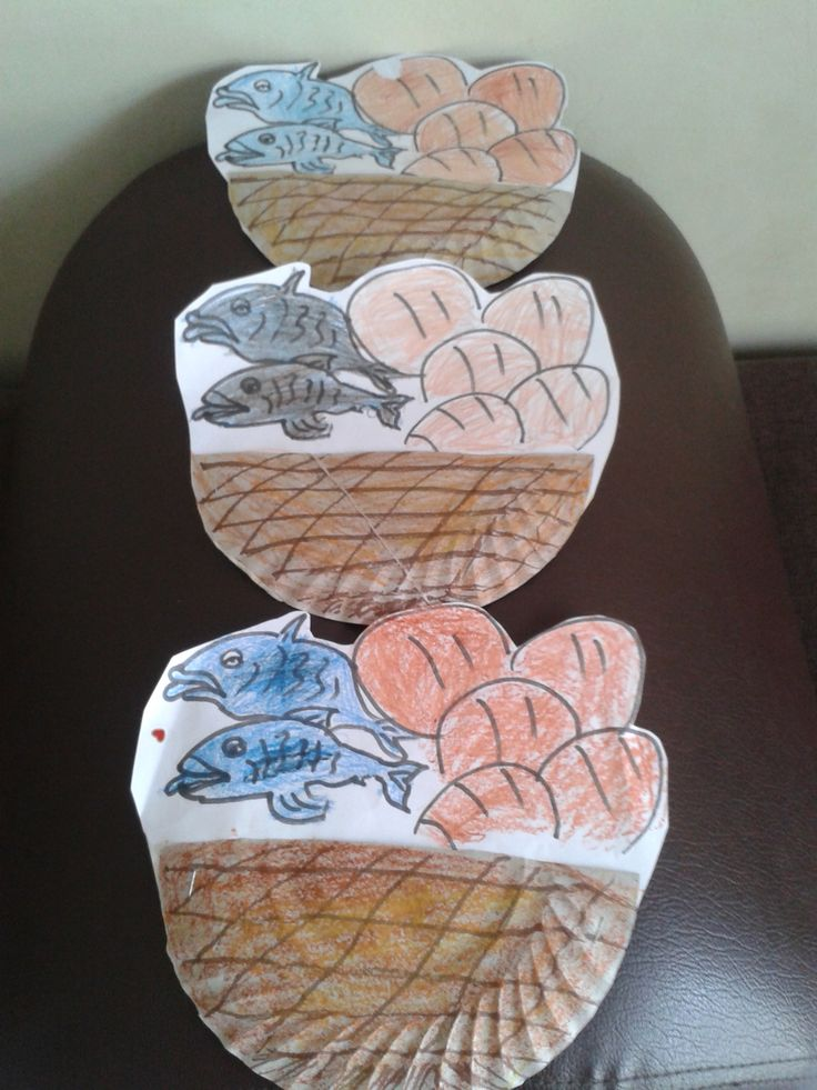 The Miracle Of 5 Loaves Bread And Fish Bible Crafts
