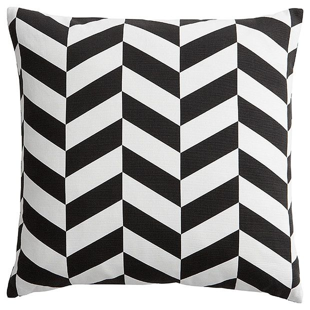 Herringbone Print Cushion - Black | Target Australia