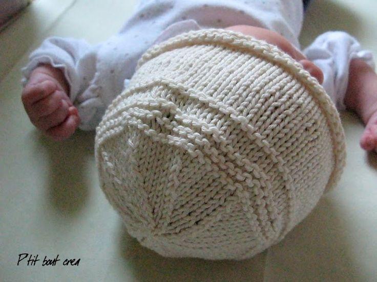 P'tit bout créa - Acte 2: Bonnet nouveau-né tricoté