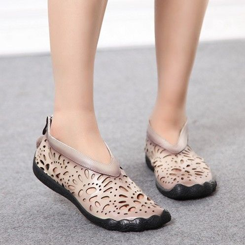 Find More Information about Handmade genuine leather cutout women's shoes national trend hole sandals flat comfortable casual shoes mother shoes,High Quality shoe dog running shoes,China shoe dazzle Suppliers, Cheap shoes sport shoes from Dream Girl shoes house on Aliexpress.com