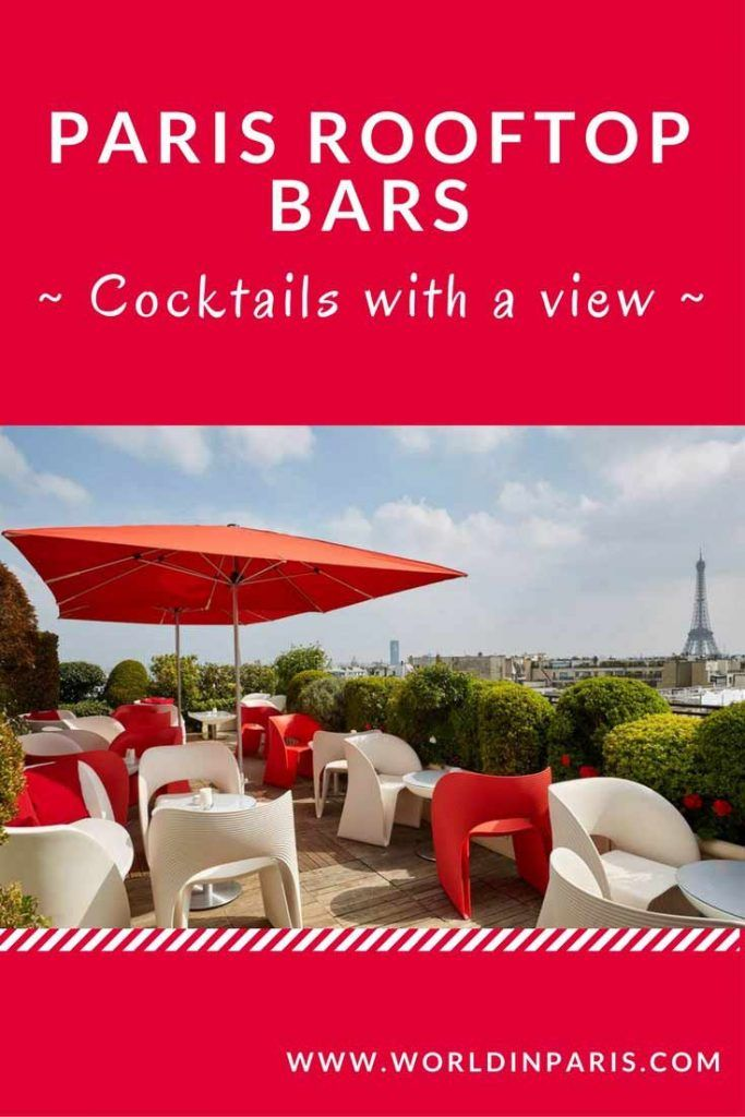 Check out our best Paris rooftop bars, one of the best things to do in Paris when the weather in Paris is nice. Enjoy your cocktail with the best views in Paris