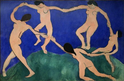 There is something so timeless about Matisse's blue period... Henri Matisse, The Dance,, 1910 (MoMA)
