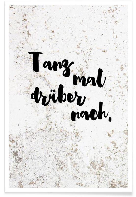 Tanz mal drüber nach als Premium Poster von Maren Kruth | JUNIQE