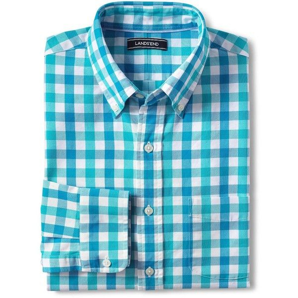Lands' End Men's Tall Traditional Fit Buttondown Collar Oxford Shirt -... ($55) ❤ liked on Polyvore featuring men's fashion, men's clothing, men's shirts, men's dress shirts, blue, mens tailored shirts, mens blue oxford shirt, lands end mens shirts, mens blue dress shirt and mens blue shirt
