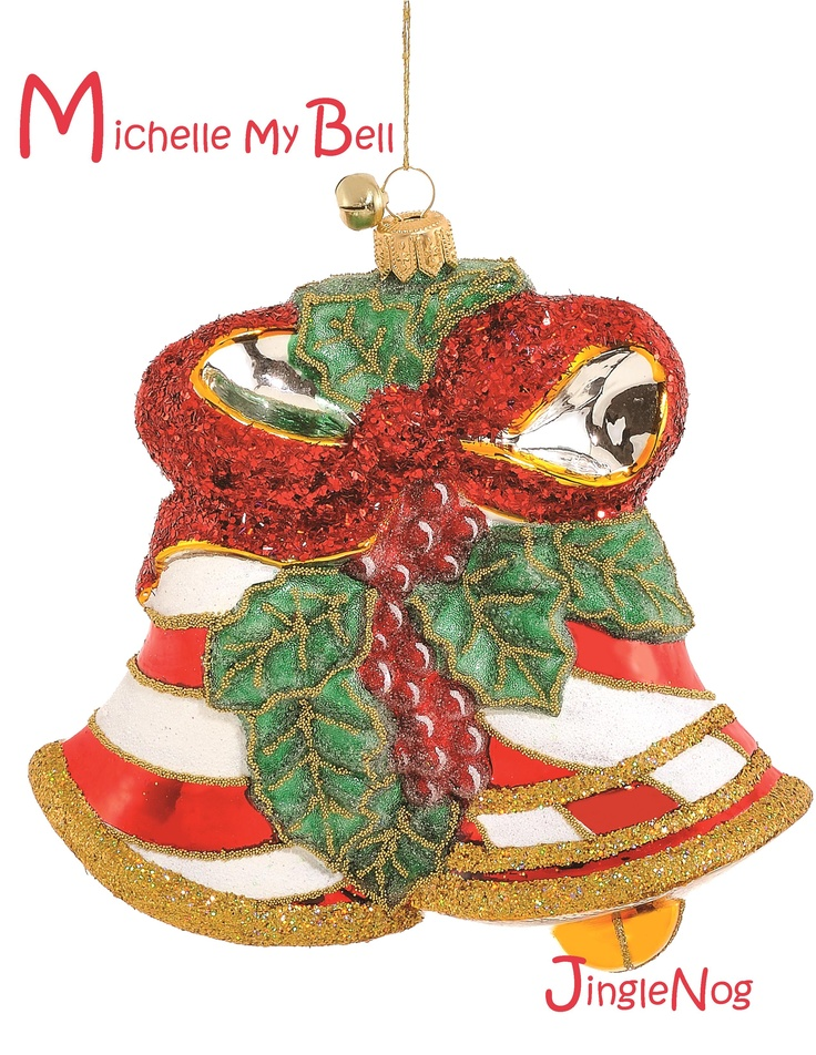 Bell Decoration Impressive Michelle My Bell  Bell Ornamentjinglenog  Christmas  Pinterest Design Ideas