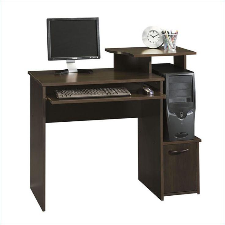office wood computer desk in cinnamon cherry
