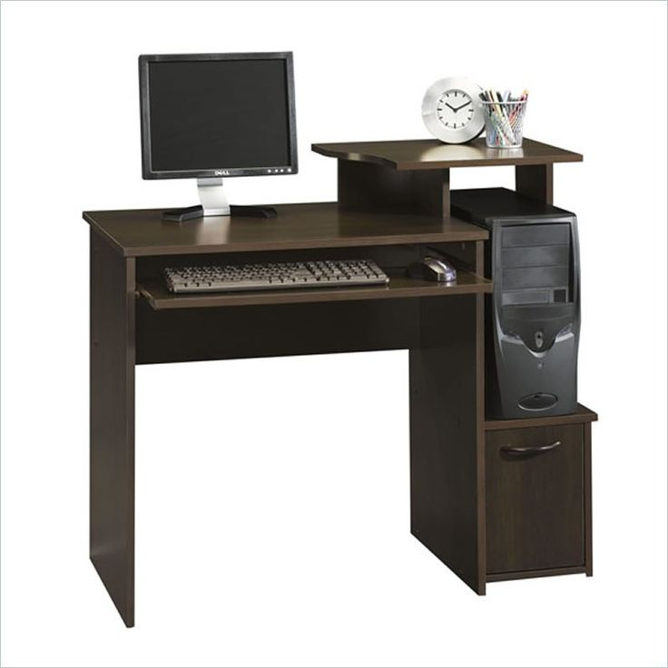 Sauder Office Beginnings Wood Computer Desk in Cinnamon Cherry - 408726 - Lowest price online on all Sauder Office Beginnings Wood Computer Desk in Cinnamon Cherry - 408726