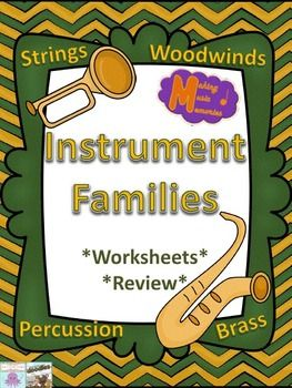 Instrument Families - Worksheets & Review