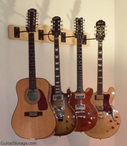 4 guitar wall mount gifts to make guitar guitar hanger guitar wall. Black Bedroom Furniture Sets. Home Design Ideas