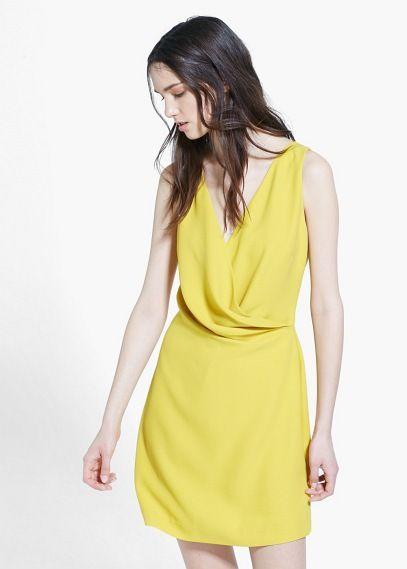Drapiertes kleid - Kleider für Damen | MANGO Outlet Deutschland