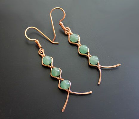 Zig-Zag Earrings by Albina Manning, a Free Jewelry Pattern from Wire-Sculpture.com