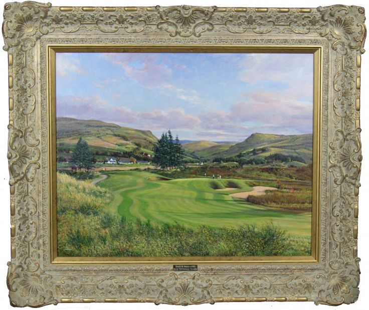 Donald Shearer The 1st PGA Centenary, Gleneagles Oils 24x30 | Scottish Contemporary Art
