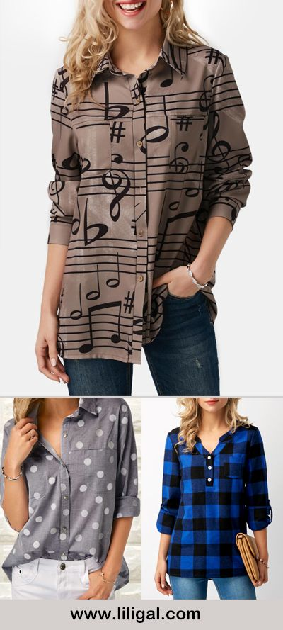 print shirts, print shirts for women, printed shirts, long sleeve shirts for women         #liligal #blouse #shirts #top #womenswear #womensfashion