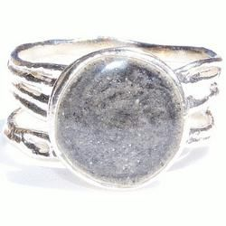 Solidified Ashes Ring - .925 Sterling Silver Cremation Jewelry - Wearable Art to Remember a Loved One