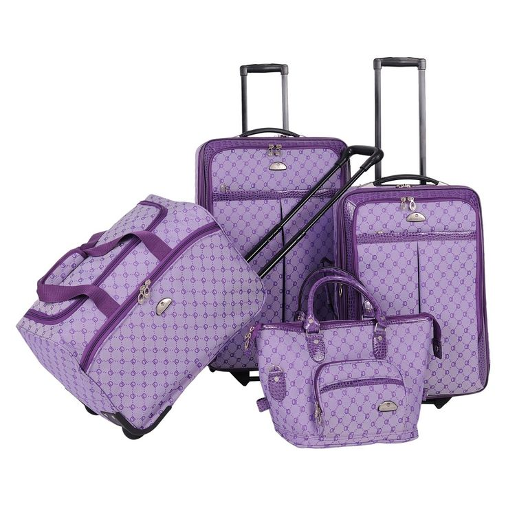 American Flyer Signature 4pc Softside Luggage Set - Light Purple