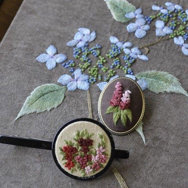 자수 브로치 #야생화자수 #야생화느낌자수 #프랑스자수 #handmade #embroidery