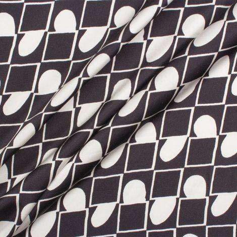 Monochrome Printed Pure Silk