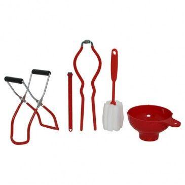 Victorio 5 Piece Home Canning Kit elementos para EMBASADO O ALMACENAJE de frutas y verduras en conservas