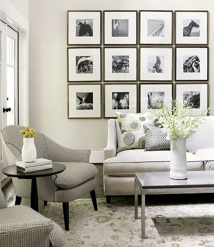 Nice Family Room Art Ideas Part - 9: Awesome Living Room With Decorative Horse Wall Art Portraits: Awesome  Living Room With Decorative Horse