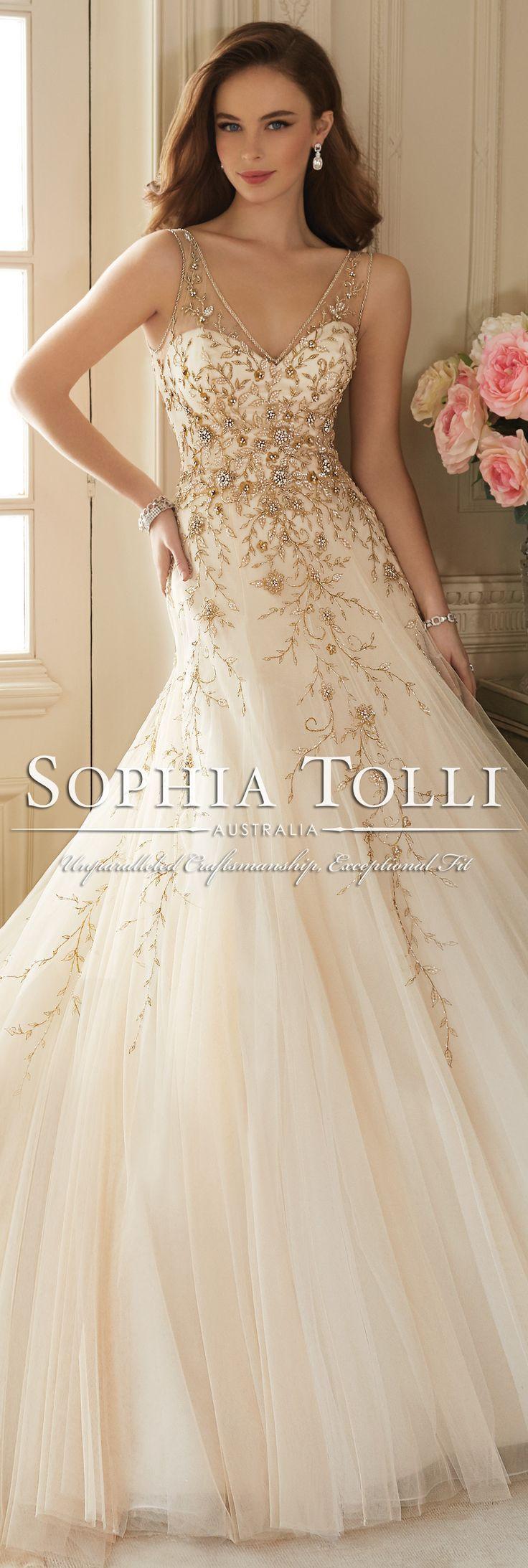 The Sophia Tolli Spring 2016 Wedding Dress Collection - Style No. Y11650 - Darice #tulleweddingdress