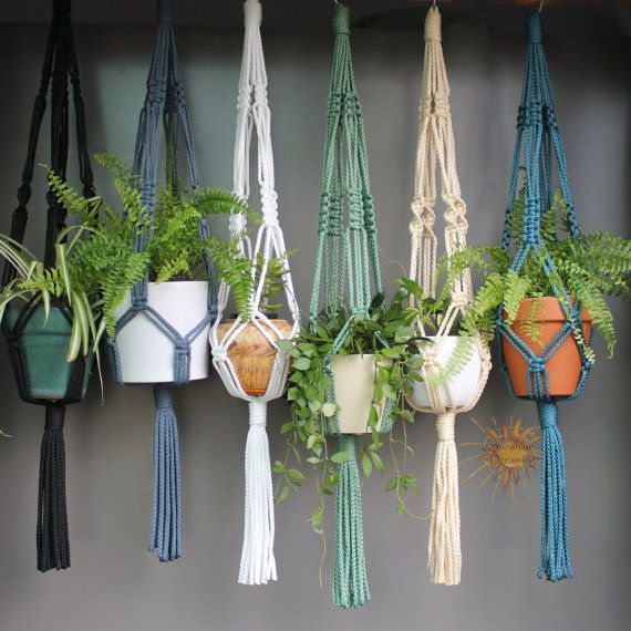 Macramé Plant Hangers in assorted neutral by SunshineDreamingAUS