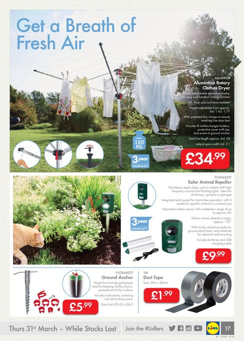 Lidl Garden Care leaflet Offers 31st March 2016