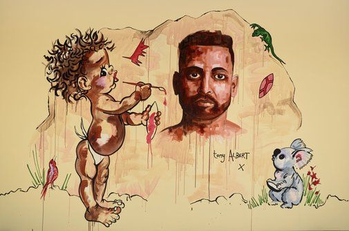 Tony Albert: Tony Albert (after Brownie Downing) :: Archibald Prize 2016 :: Art Gallery NSW