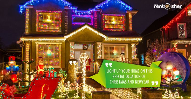 #Christmas is the season of lights. Let's welcome #SantaClaus this season with decorative lightings, Christmas tree setup with lightings, snow machine and many more #Xmas specials from RentSher. Hire Christmas specials from RentSher at affordable prices with home delivery and setup across #Bangalore and #Delhi. Visit is today for more details: http://www.rentsher.com/xmas