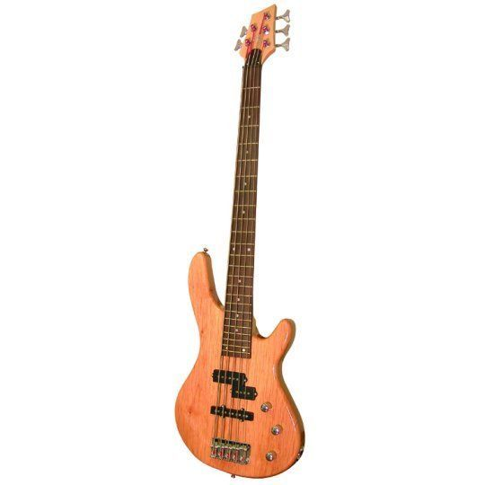 Kona Guitars KE5BN 5 String Electric Bass Guitar with Split Pickup Configuration