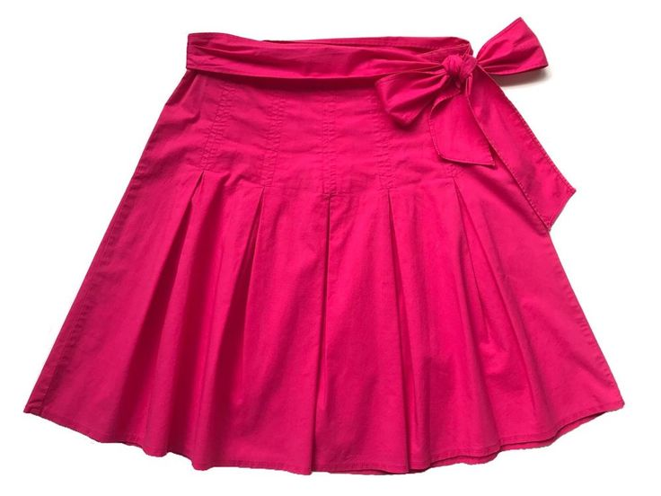 TRACY EVANS LIMITED, Hot Pink, Pleated, Full, Knee-Length, Bow, Skirt, Size 7 S #TracyEvans #FullSkirt