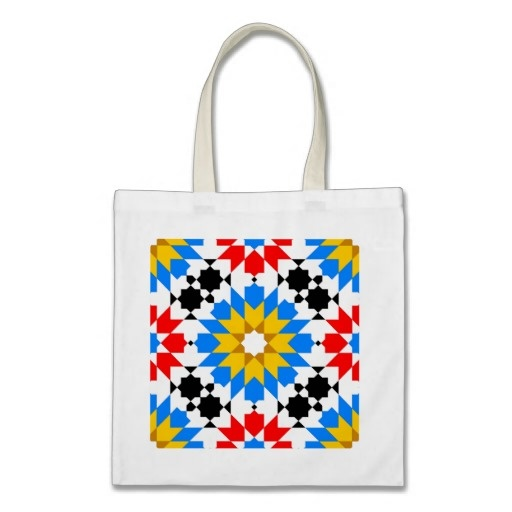 Islamic geometric pattern Bag