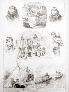 1880 Illustrations of the Labrador Inuit in Prague